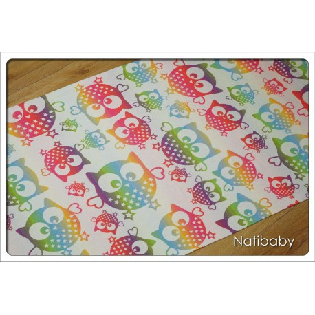 Natibaby - Magical Owls hell - 100% coton