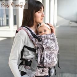 Babymonkey - préformé a clips- Unicorns Himalaya Reverse Glitter