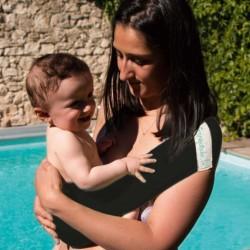 Aquabulle noire - porte-bébé d'appoint aquatique