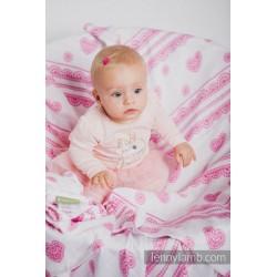 Lennylamb - Gaze pour bébé -  Iced Lace Pink & White