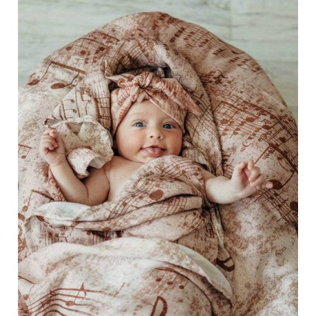 Lennylamb - Gaze pour bébé - Symphony Brown & Cream