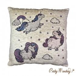 Babymonkey-Coussin Licorne
