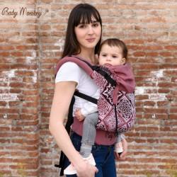 Babymonkey - préformé a clips- Heart Rosso