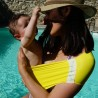 Aquabulle jaune, porte-bébé d'appoint aquatique