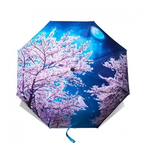 Ombrelle anti-UV Fleurs de cerisiers