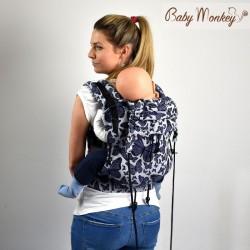 Babymonkey - préformé a clips- Butterfly Viola Revers