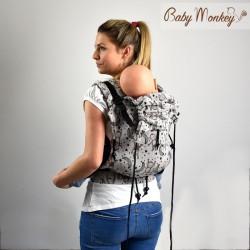 Babymonkey - préformé a clips- Littlemonkey Marrone Reverse