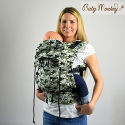 Babymonkey - préformé a clips- WildHorse Sage Reverse