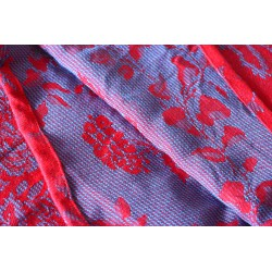 luluna - Fiorella red sky - 60% cotton 40% viscose