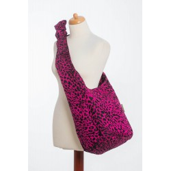 Lennylamb - Sac de portage - Cheetah Black & Pink