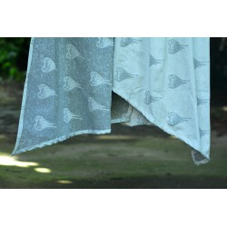 Luluna - Aqua Love Deep Mono- 60% cotton 40% viscose